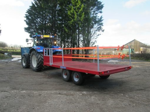 16 foot Twin Axle Flat Trailer For Hire