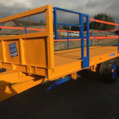 21 foot Twin Axle Flat Bale Trailer For Hire