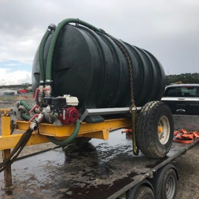 600 Gallon Water Bowser For Hire