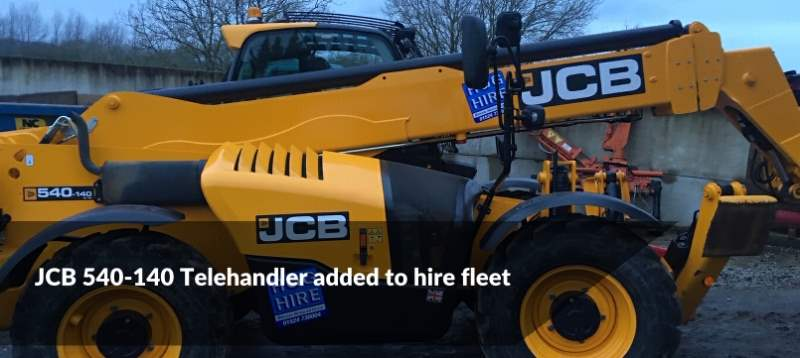 JCB 540-140 Telehandler Added to Hog Hire Fleet